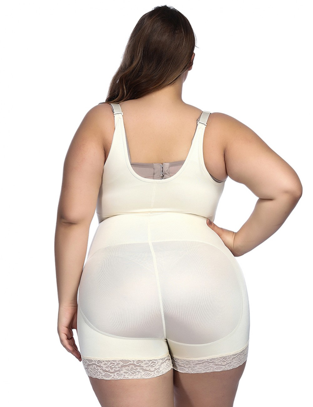 Zip Hooks Latex Open Crotch Nude Body Shaper Big Size Potential Reduction