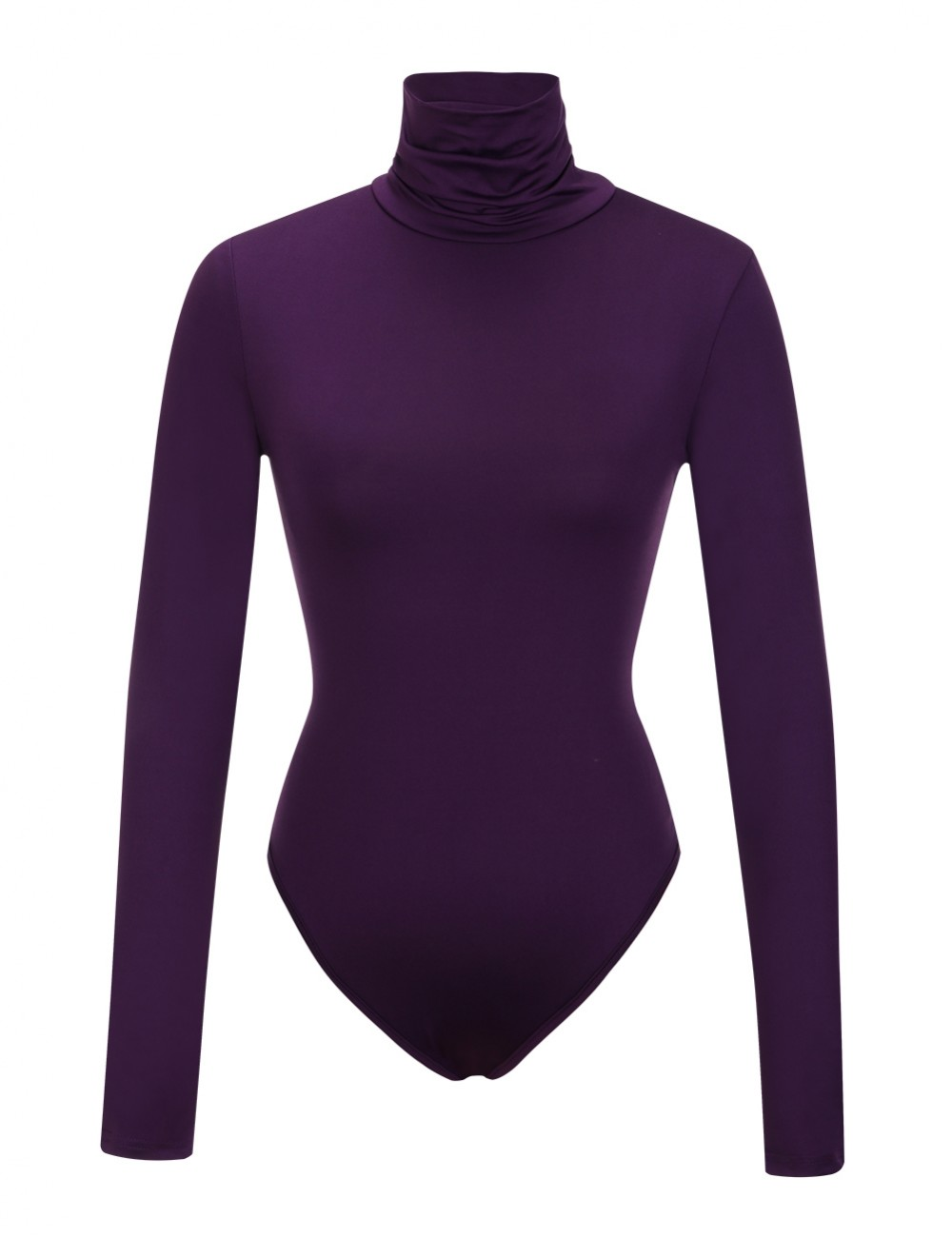 Fabulously Purple One Piece High Cut Bodysuit Snap Button For Girls
