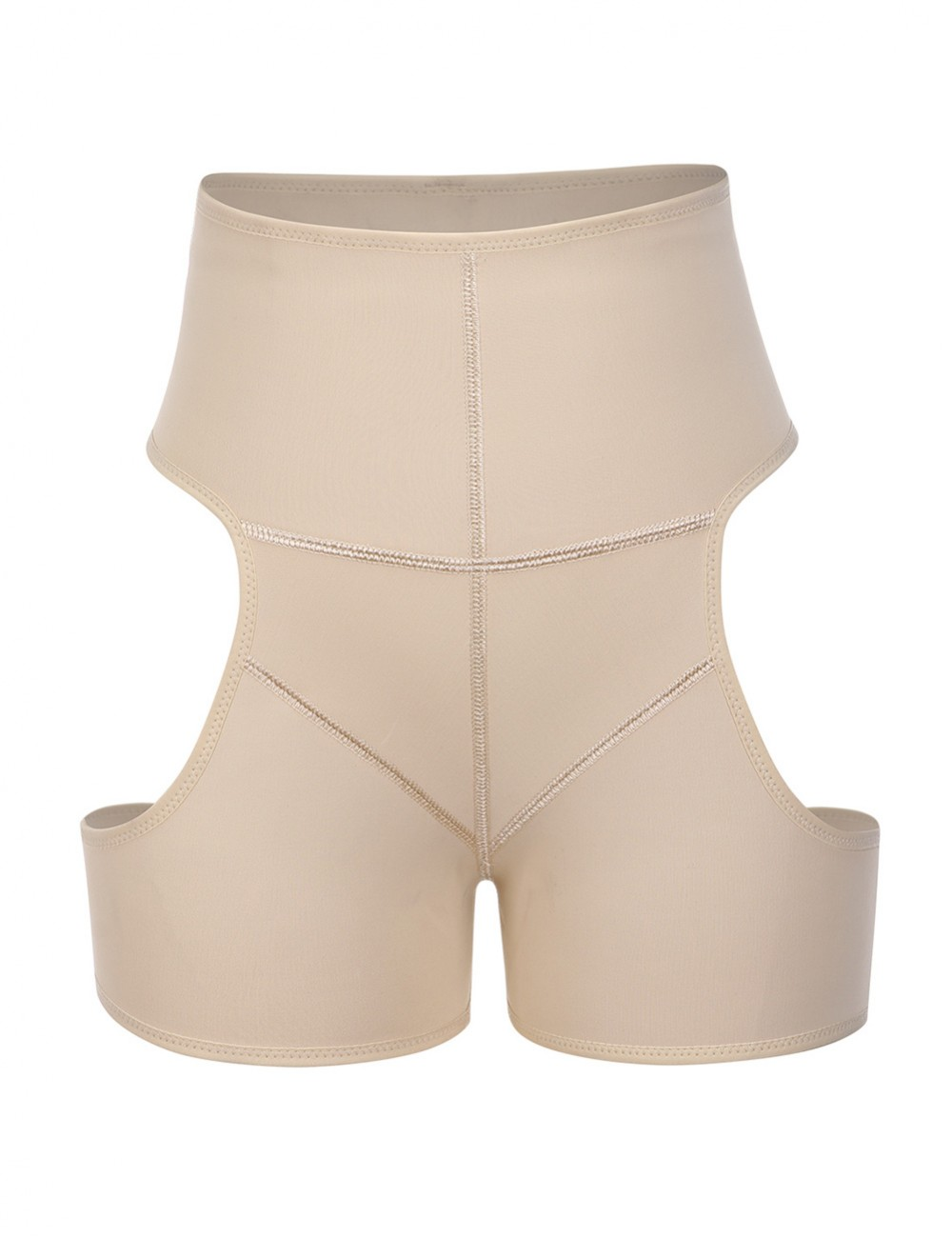 Nude Large Size Shaper Buttock Enhancer Cut Out High Rise Firm Compression
