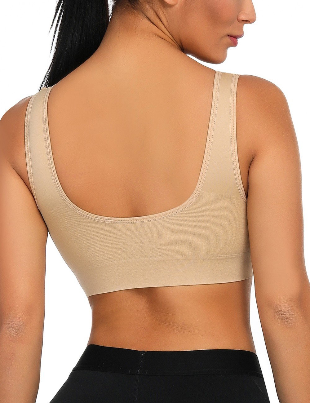 Sensational Nude Seamless Big Size No-Wire Padded Sport Bras Exercise