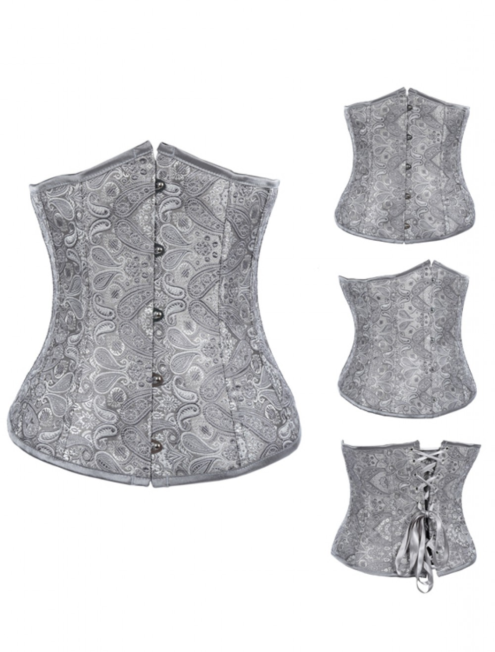 Sexy Embroidered Half Corset