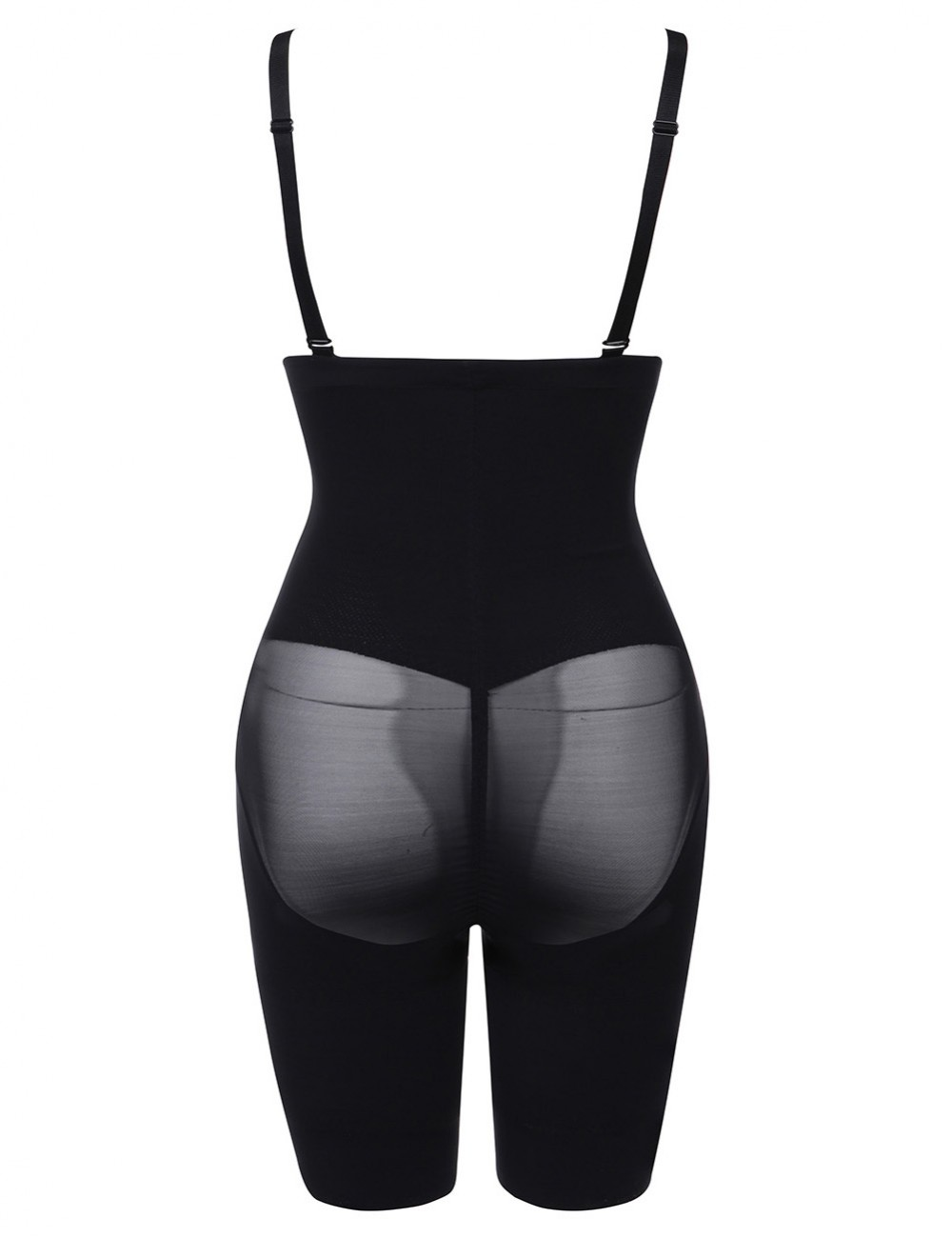 Black Butt Lift Mesh Patchwork Tight Body Shaper Plus Size Natural Shaping