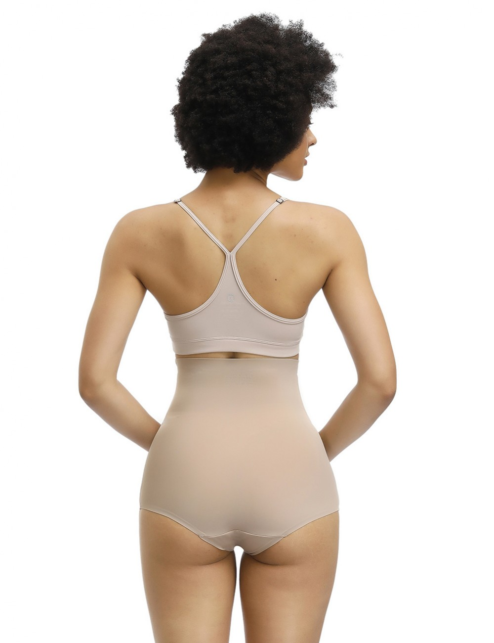 Skin High Rise Butt Enhancer Panty Solid Color Abdominal Control