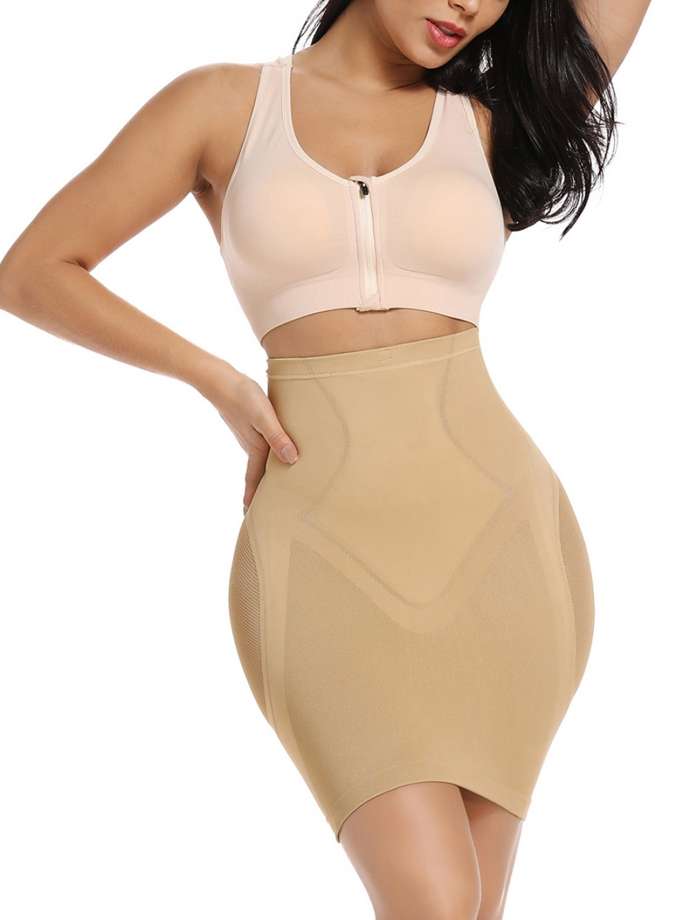 Skin Flat Tummy High Rise Lace Butt Lifter Sleek Smoothers