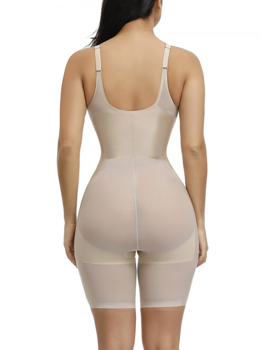 Skin Color Flat Tummy Queen Size High Waisted Body Shaper Smooth Abdomen