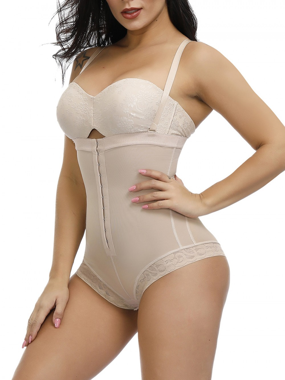 Skin Plus Size Adjustable Straps Body Shapewear Control Midsection