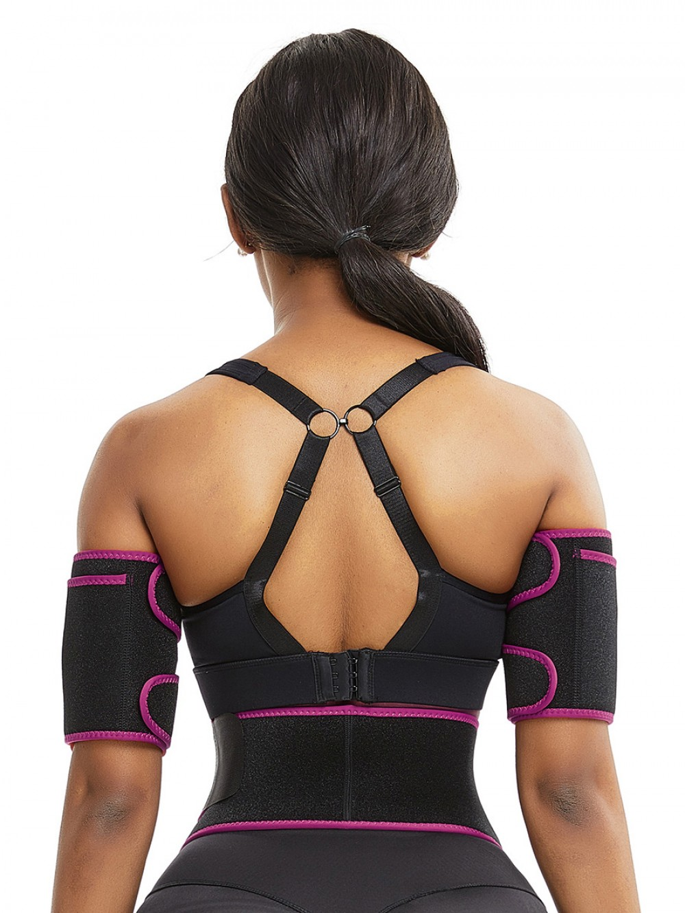 Arm Shaper Rose Red Neoprene Two Pieces Sticker Curve-Creating