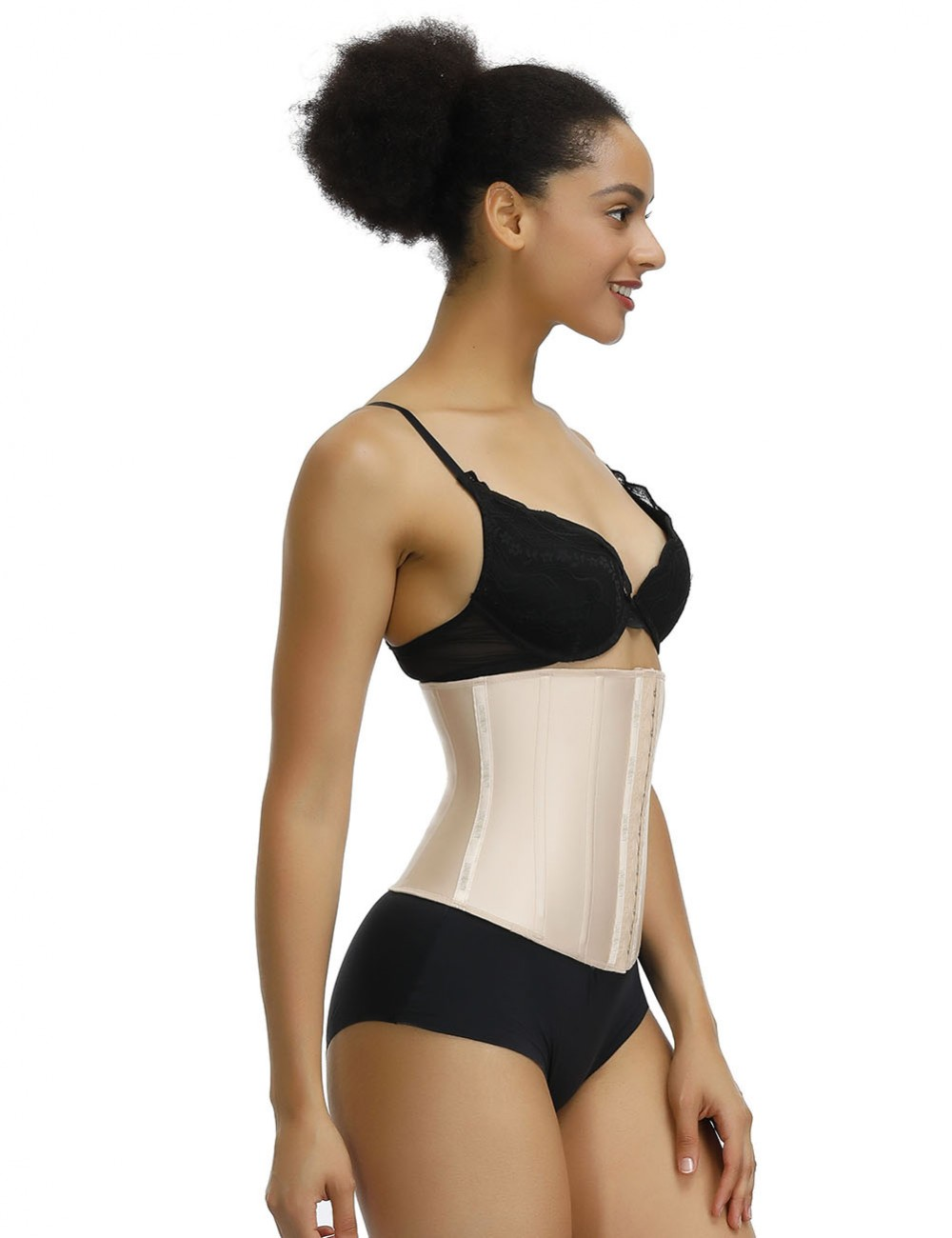 Skin Color Waist Cincher Latex 13 Steel Boned Midsection Control