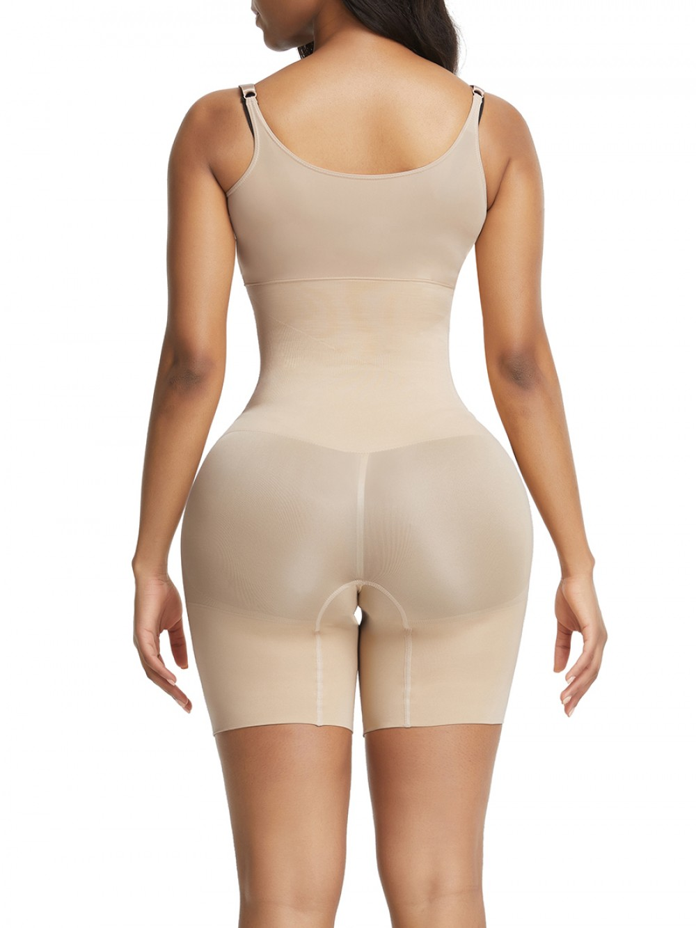 Skin Color Plus Size Body Shaper High Rise Seamless Instant-Slimmer