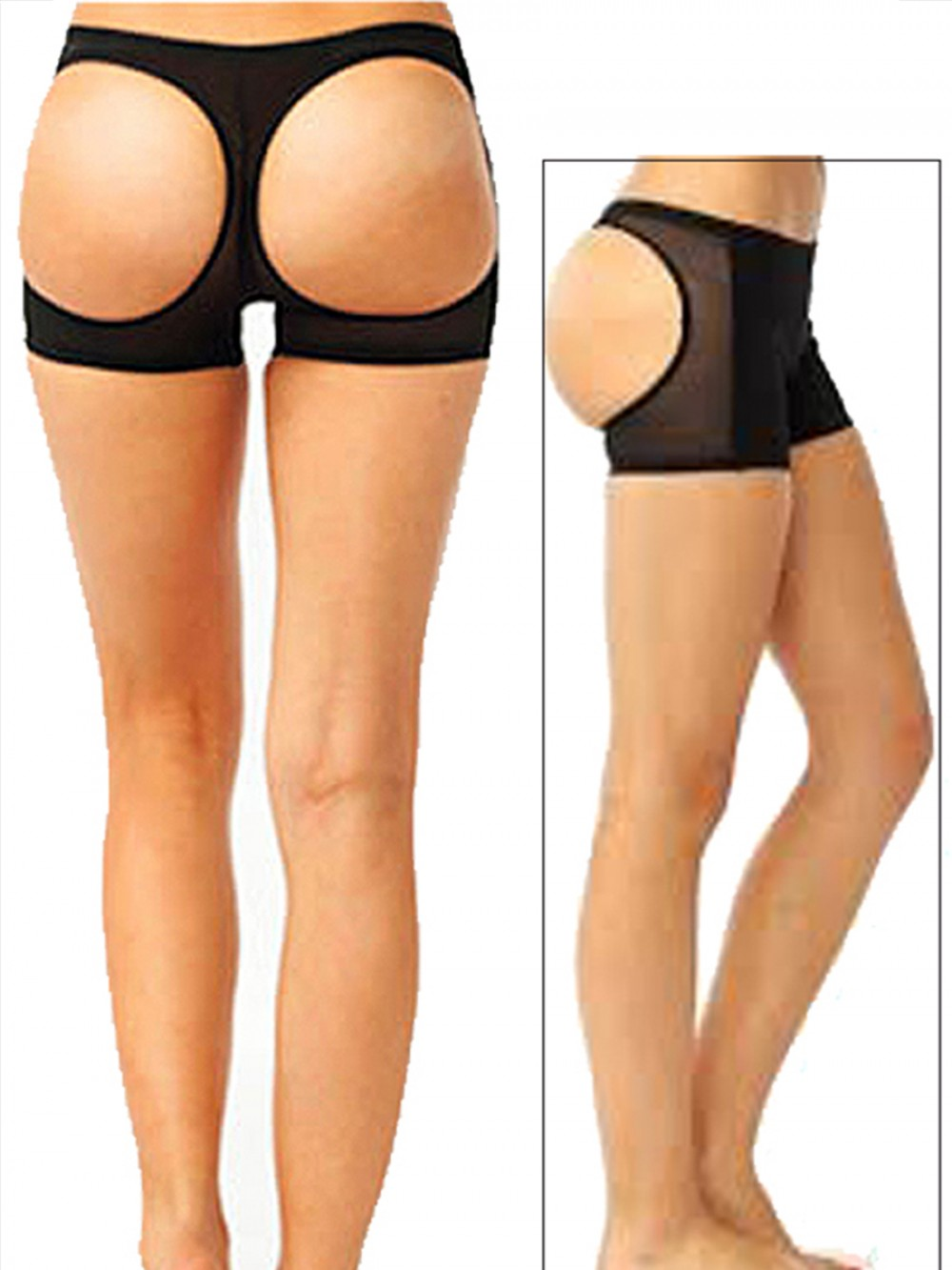 Figure Shaping Black Butt Lifter Panty Hollow Out Basic Shaping