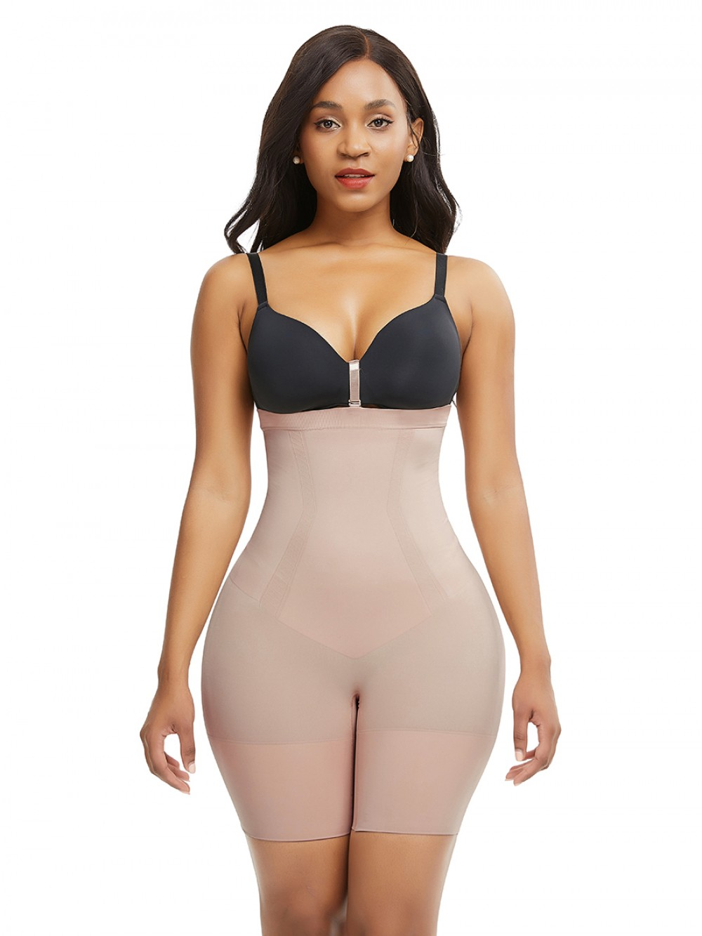 Skin Color Seamless Plus Size Buckle Shaper Panty Body Sculpting