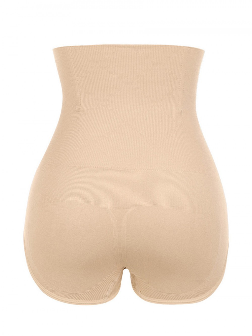Slimming Tummy Apricot High Cut Solid Color Plus Size Panty Enhancer