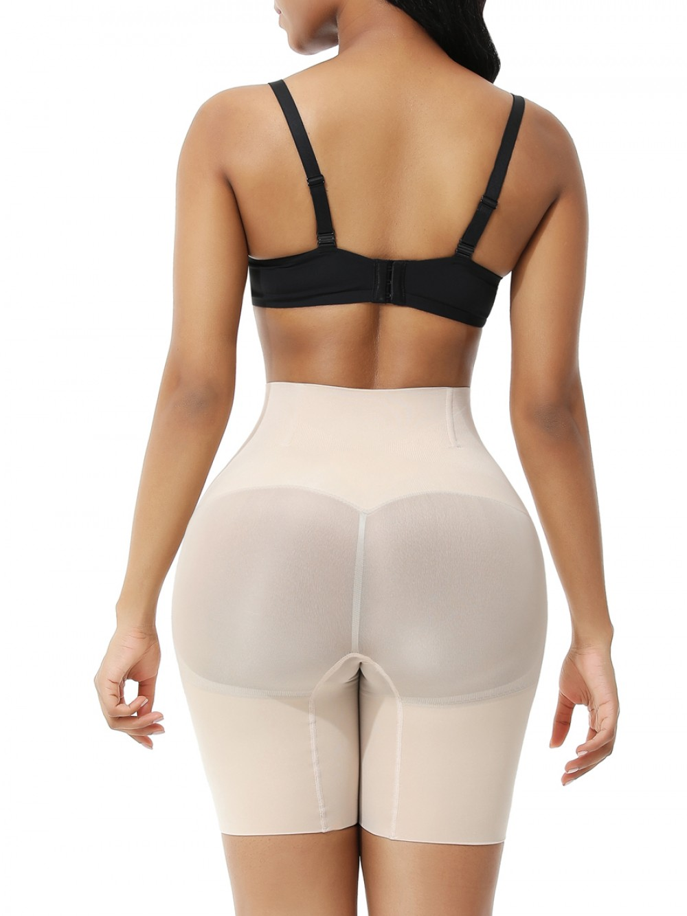 Nude Seamless Plus Size Tummy Control Shorts Figure Slimmer