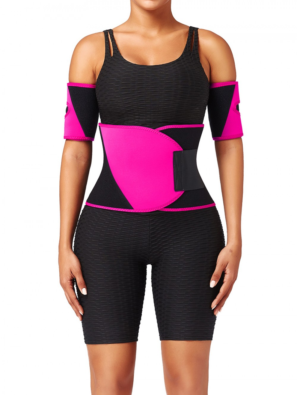 Rose Red Plus Size Neoprene Embossed Waist Trainer Stretch
