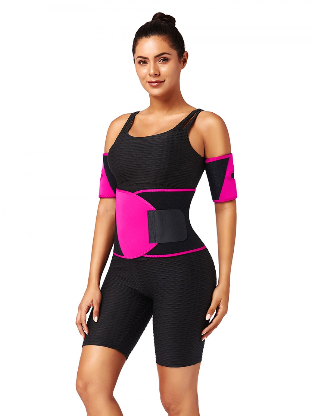 Rose Red Neoprene 2 Pieces Arm Shapers Patchwork Soft-Touch