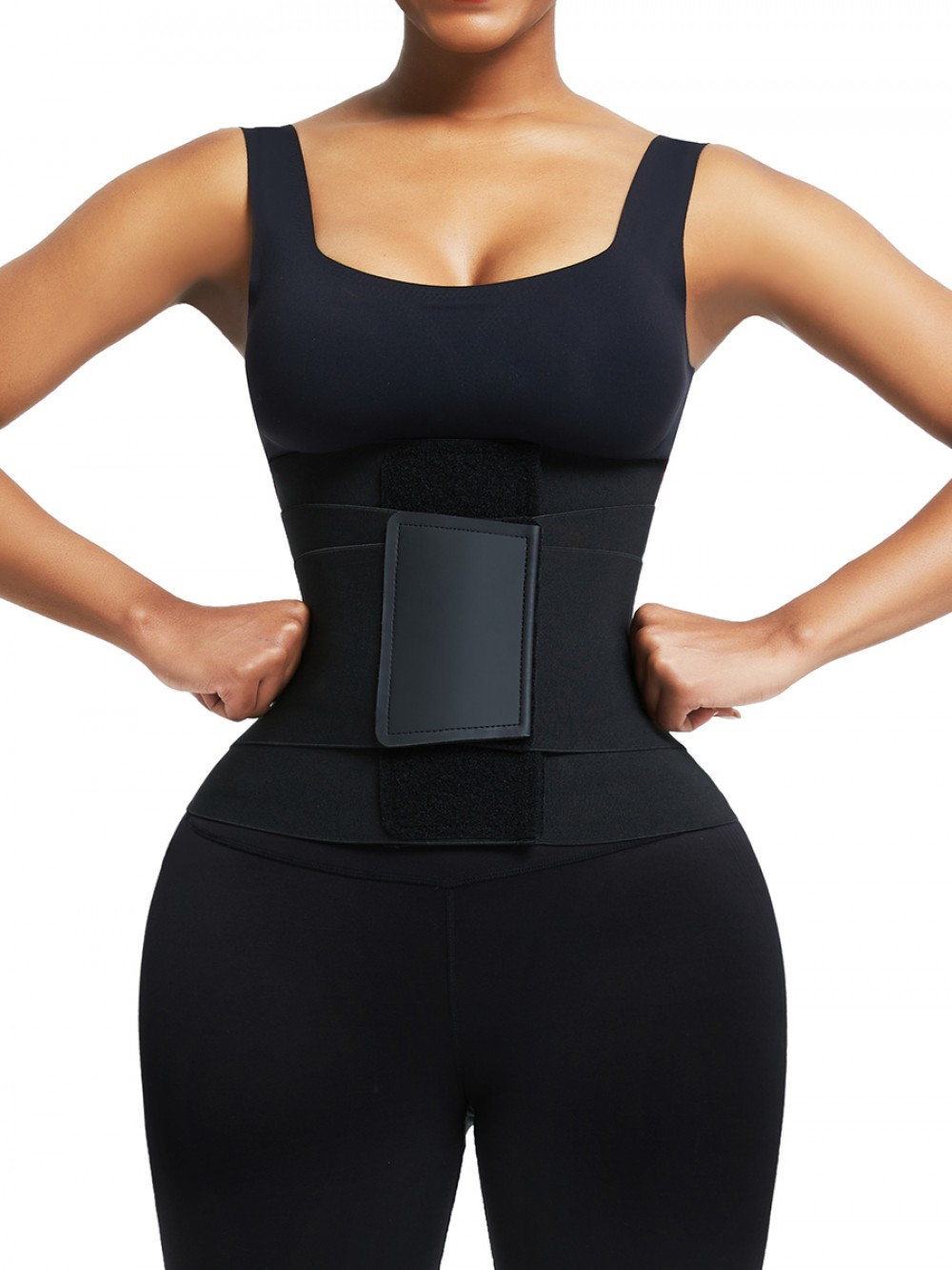 Rose Red Plus Waist Trainer With Straps Contrast Color Lose Weight