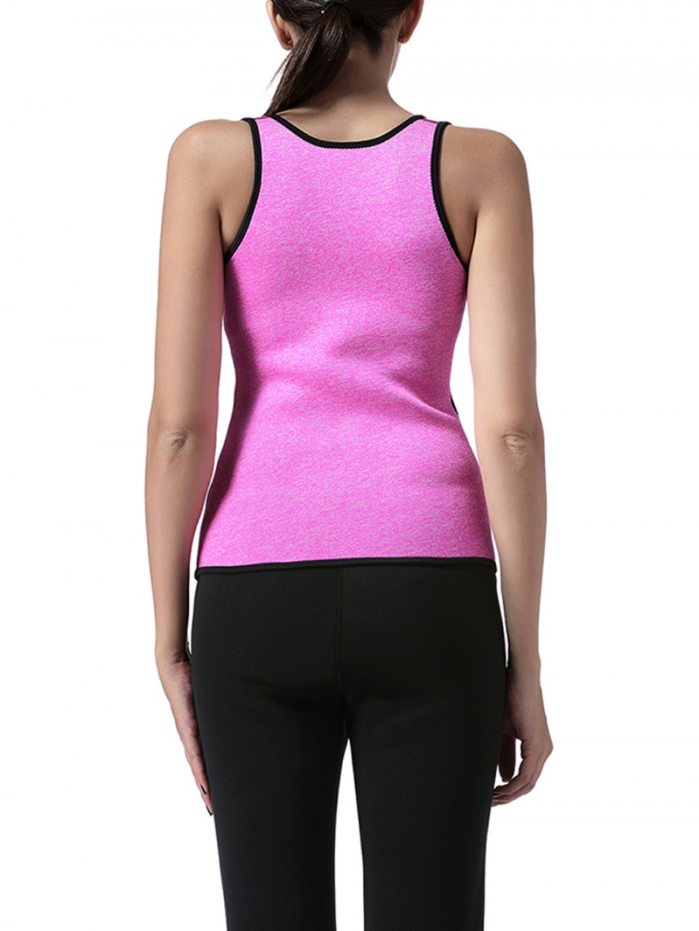 Eye-Catching Pink Neoprene Open Bust Shaper Plus Size Compression