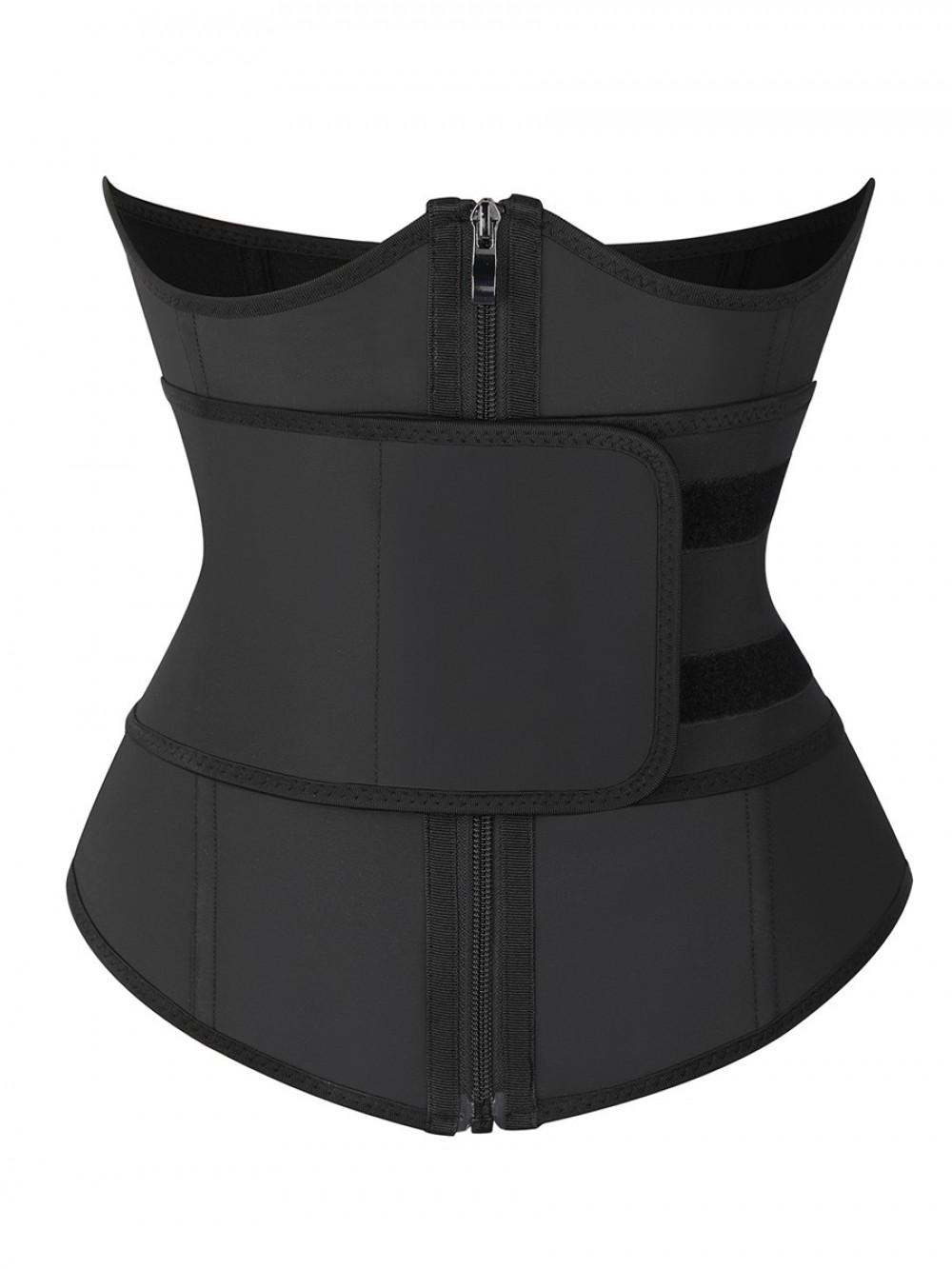 Black Bust Support Latex Waist Trainer With Belt Lose Weight