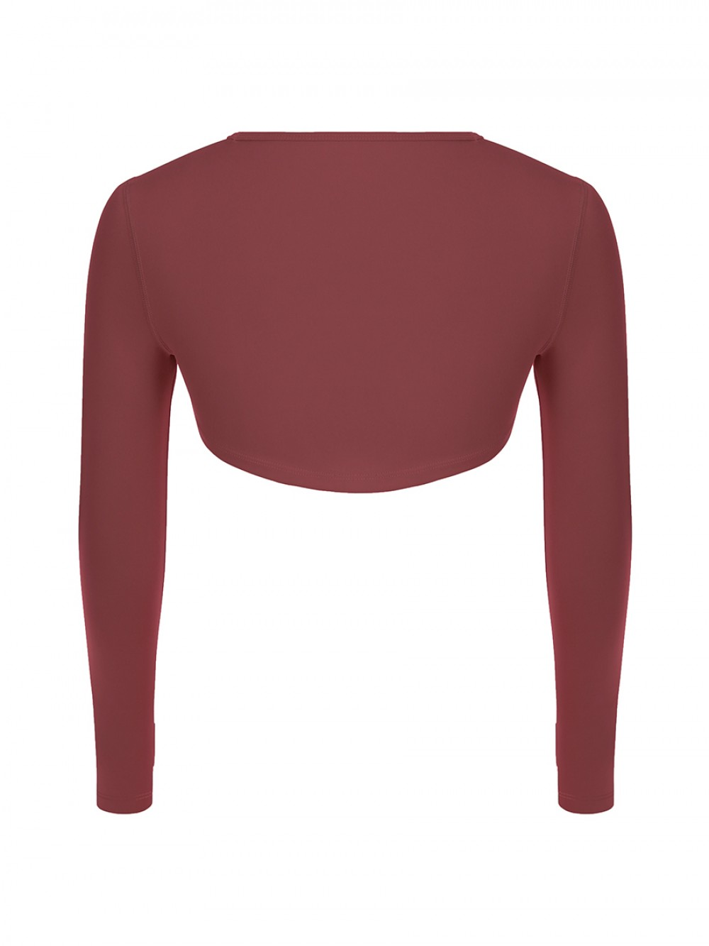 Jujube Red Long Sleeve Running Top Crew Neck For Training