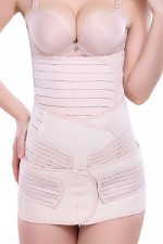 Cheap 3 Pieces Plastic Bone Nude Losing Weight Slimming Waist