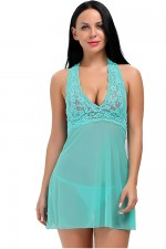 Skimpy Green Floral Lace Babydoll Matching G Thong