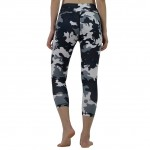 Mid Rise Waistband Cropped All-Over Printed Yoga Pants