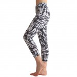 Stylish Two Tone Tight Capri Sport Legging Wide Waistband