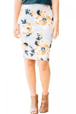 Versatile High Waist Floral Short Skirt Hip Bodycon