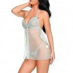 Green Mesh Babydoll Cover Up Green Adjustable Straps