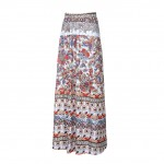 Mix Color Summer Bohemian Style Ruched Skirt