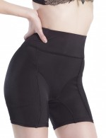 Full Size High Rise Black Butt Lifter With Boyshort Figure Slimmer