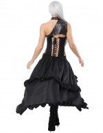 Appealing Three Pieces Gold Lace-Up Corset Layered Skirts