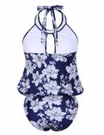 Brilliant Large Floral One Piece Swimsuit Hollow Out Wireless