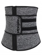 Explicitly Chosen Grey Sticker Closure Plus Neoprene Waist Cincher