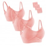 3 Pcs Nursing Bras Ruched Front Distinguished Making