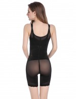 Tummy Black Adjustable Hooks Body Shaper Patchwork Natural Shaping
