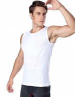 Waist Control White Quick Drying Mens Vest Shaper Leisure Fashion