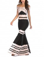 Floor Length Flirtatious Bandage Dress Hollow Out Female