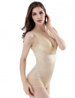 Explicitly Chosen Nude Lace Trim Bodysuit Push Up Enhancer Plus
