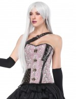 Light Pink 14 Plastic Boned Overbust Corset Studs Firm Sculpture