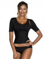 Ultra-Thin Black Queen Size Underbust Sticker Neoprene Shaper Weight Loss