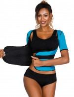 Blue Waist Sticker Neoprene Shaper Large Size Midsection Compression