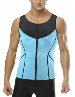 Ultra Hot Blue Zipper Front Neoprene Vest Shaper Plus Size Sleek Curves