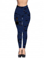 Slimming Fit Blue Yoga Waist Pocket Brushed Tights Candies