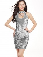 Marvellous Grey Pencil Short Velvet Dress Criss Cross Comfort Fabric