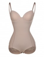 Enthralling Lace Nude Adjustable Bodysuit Shaper Bust Support Superfit Everyday