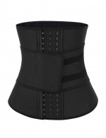 Slimmer Black Big Size Latex Waist Shaper 7 Steel Bones Extra Sexy