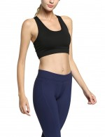 Snappy Black Back Pocket Gym Bra Running Outfits