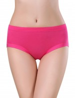 Fashionable Rose Red Seamless Bamboo Menstrual Panties High Quality
