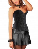 Overbust Heart-Shaped Neck Buckle Court Plastic Bone Corset Crossover Closure